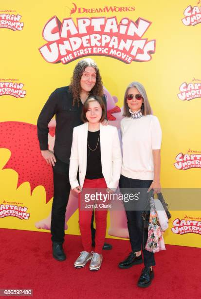 Singersongwriter 'Weird Al' Yancovic his wife Suzanne Krajewski and their daughter Nina Yancovic attend the Premiere Of 20th Century Fox's Captain...