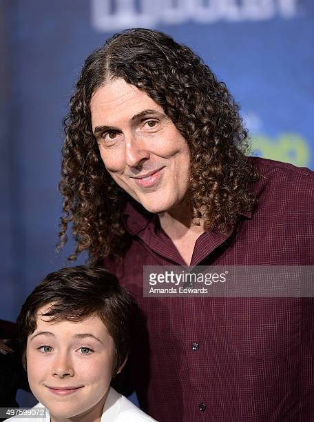 Singersongwriter Weird Al Yankovic and his daughter Nina Yankovic arrive at the premiere of DisneyPixar's The Good Dinosaur on November 17 2015 in...