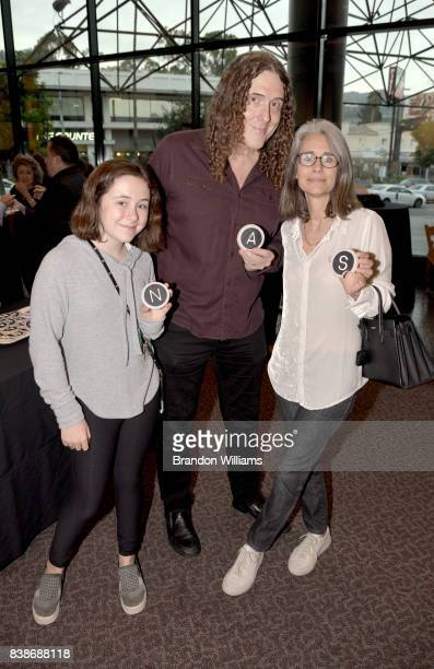 Singer/songwriter Weird Al Yankovic and wife Suzanne Krajewski and daughter Nina Yankovic attend the 50th anniversary screening of Royal Road Test...