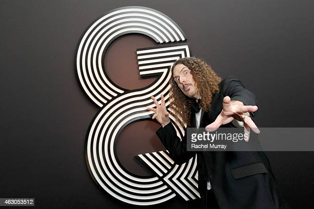 SingerSongwriter 'Weird Al' Yankovic attends GQ and Giorgio Armani Grammys After Party at Hollywood Athletic Club on February 8 2015 in Hollywood...