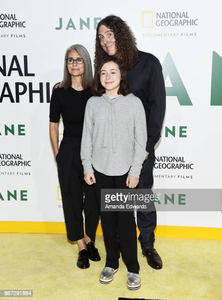 Singersongwriter Weird Al Yankovic his wife Suzanne Yankovic and their daughter Nina Yankovic arrive at the premiere of National Geographic...