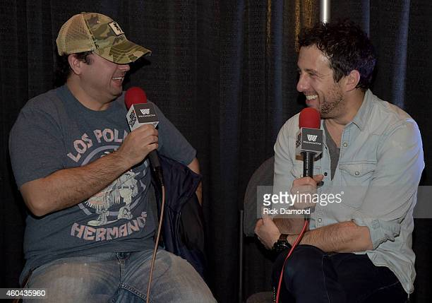 Singer/Songwriter Will Hoge visits radio during Red Carpet Radio Presented By Westwood One For The American County Countdown Awards at the Music City...
