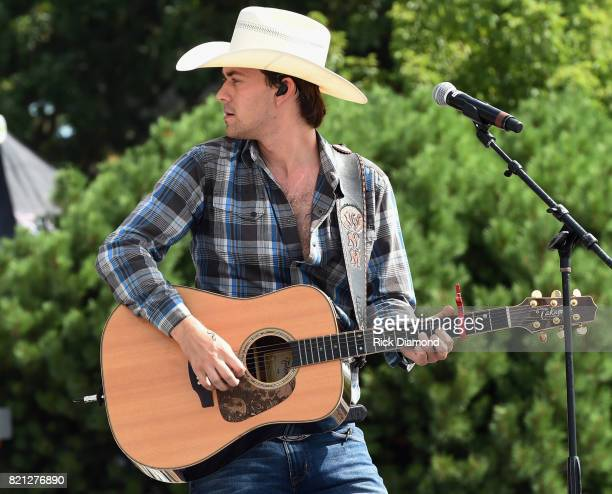 Singer/Songwriter William Michael Morgan performs during Country Thunder In Twin Lakes Wisconsin Day 3 on July 22 2017 in Twin Lakes Wisconsin