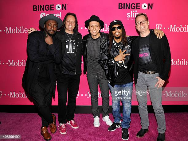 Singersongwriter william President and CEO of TMobile John Legere DJ Vice hiphop artist Lil Jon and COO of TMobile Mike Sievart attend TMobile...