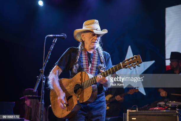 Singersongwriter Willie Nelson and Bobbie Nelson perform in concert at 3TEN ACL Live on July 3 2018 in Austin Texas