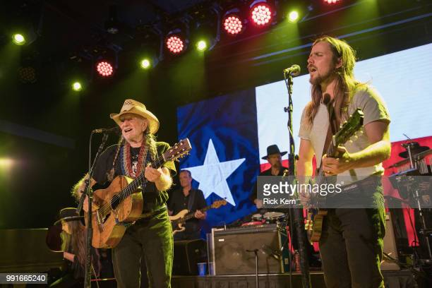 Singersongwriter Willie Nelson and Lukas Nelson perform in concert at 3TEN ACL Live on July 3 2018 in Austin Texas