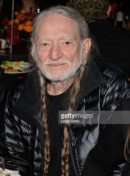 Singersongwriter Willie Nelson attends the 25th anniversary MusiCares 2015 Person Of The Year Gala honoring Bob Dylan at the Los Angeles Convention...
