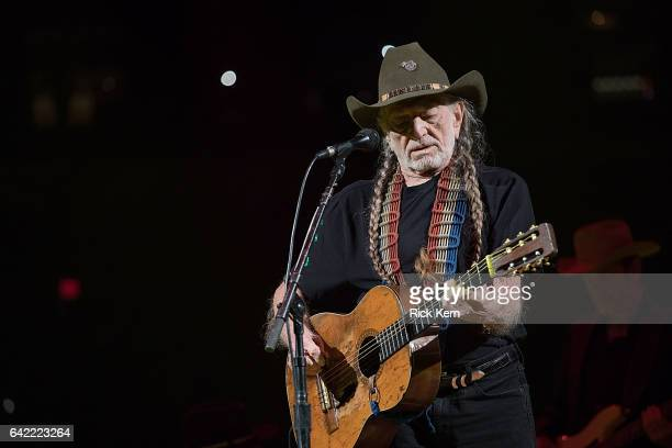 Singersongwriter Willie Nelson performs in concert as part of the San Antonio Stock Show Rodeo at the ATT Center on February 16 2017 in San Antonio...