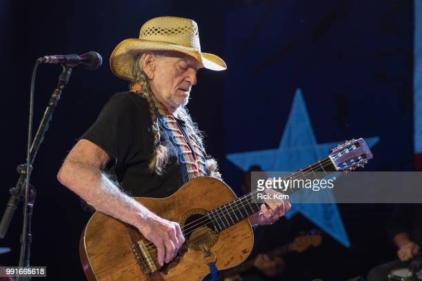 Singersongwriter Willie Nelson performs in concert at 3TEN ACL Live on July 3 2018 in Austin Texas