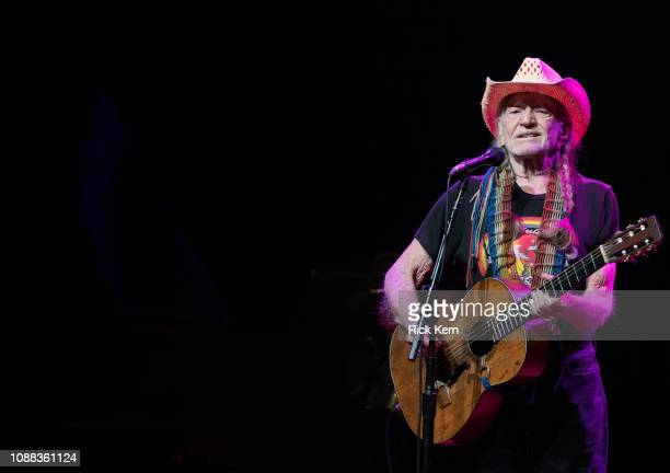 Singersongwriter Willie Nelson performs in concert at ACL Live on December 30 2018 in Austin Texas
