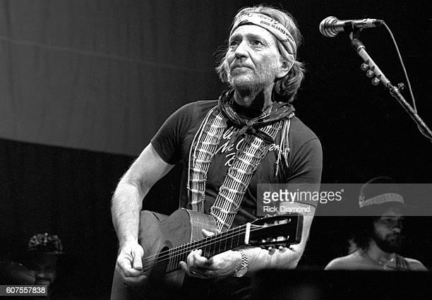 Singer/Songwriter Willie Nelson performs live at The Omni Coliseum in Atlanta Georgia December 11 1981