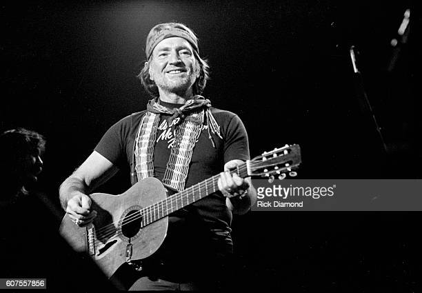 Singer/Songwriter Willie Nelson performs live at The Omni Coliseum in Atlanta Georgia December 11 1981
