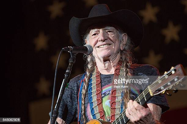 Singer-songwriter Willie Nelson performs onstage during the 43rd Annual Willie Nelson 4th of July Picnic at Austin360 Amphitheater on July 4, 2016 in...