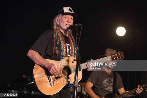Singersongwriter Willie Nelson performs onstage during the 'Turn Out for Texas Rally' at Auditorium Shores on September 29 2018 in Austin Texas