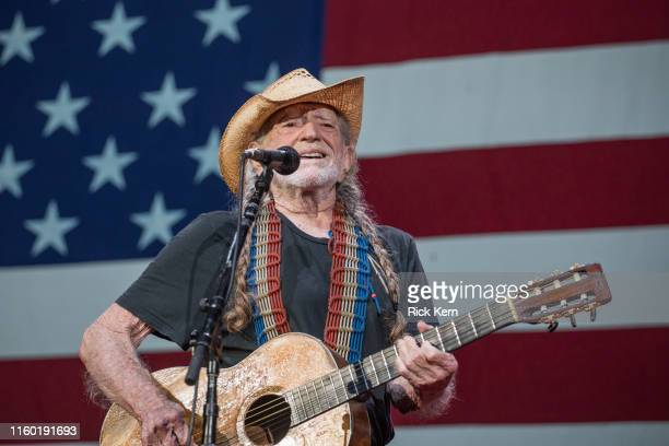 Singersongwriter Willie Nelson performs onstage with Willie Nelson and Family during the 46th Annual Willie Nelson 4th of July Picnic at Austin360...