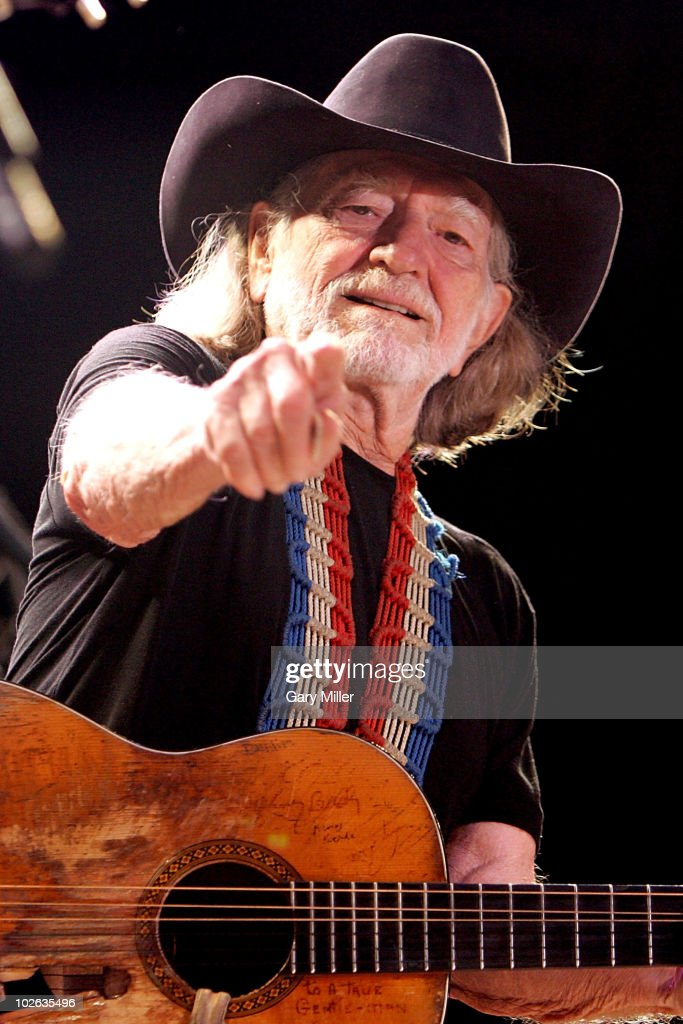 Singer/songwriter Willie Nelson performs to a sold out crowd during his 4th of July Picnic at The Backyard on July 4, 2010 in Austin, Texas.