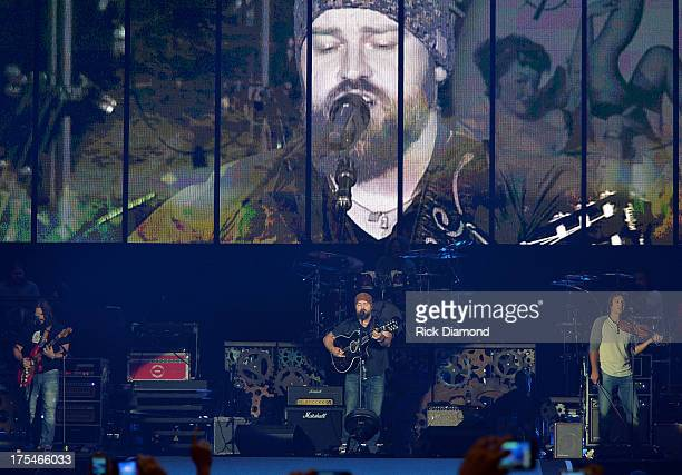 Singer/Songwriter Zac Brown of The Zac Brown Band performs during Kenny Chesney's No Shoes Nation on Zac Brown's Southern Ground Tour at the Georgia...