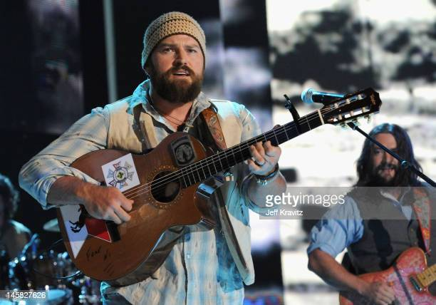 Singer/songwriter Zac Brown of Zac Brown Band performs onstage during the 2012 CMT Music awards at the Bridgestone Arena on June 6 2012 in Nashville...