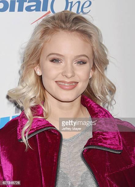Singersongwriter Zara Larsson attends 1027 KIIS FM's Jingle Ball 2016 at Staples Center on December 2 2016 in Los Angeles California