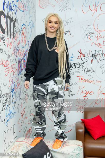 Singer/songwriter Zhavia Ward visits Music Choice on January 24 2019 in New York City