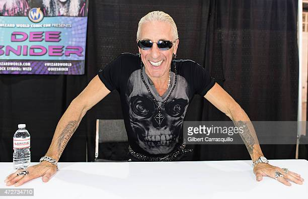 Singersongwriter/actor Dee Snider attends day 2 of Wizard World Comic Con at Pennsylvania Convention Center on May 8 2015 in Philadelphia Pennsylvania