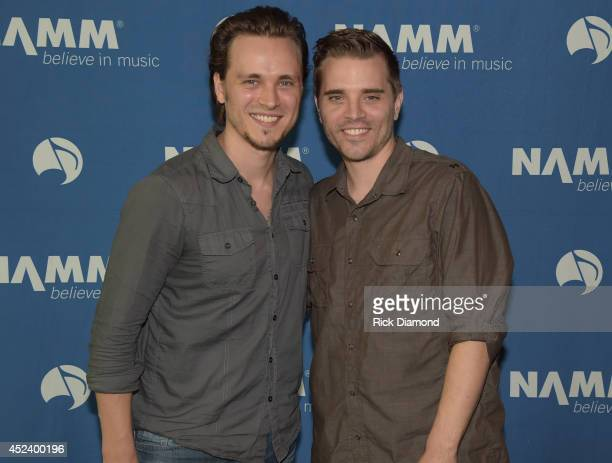 Singer/Songwriter/Actor Jonathan Jackson and brother Singer/Songwriter Richard Jackson attend Music Industry Day At Summer NAMM With Performances By...
