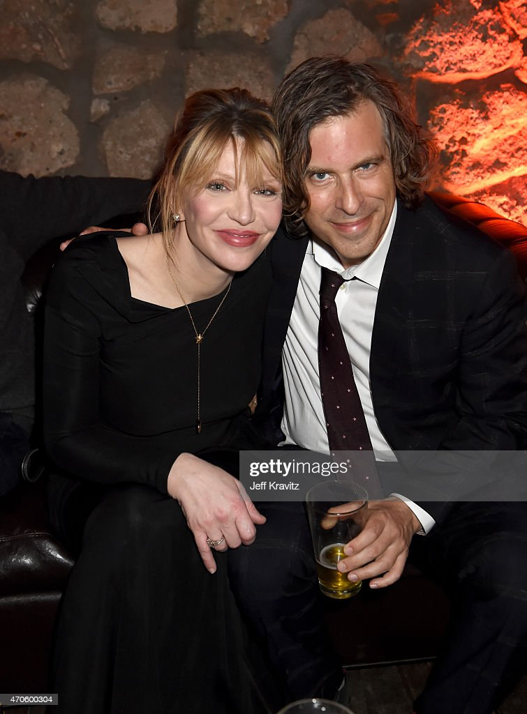 Singer/songwriter/actress Courtney Love (L) and Director/Writer/Producer Brett Morgen attend HBO's 'Kurt Cobain: Montage Of Heck' Los Angeles Premiere After Party at the Sadie Kitchen and Lounge on April 21, 2015 in Hollywood, California.