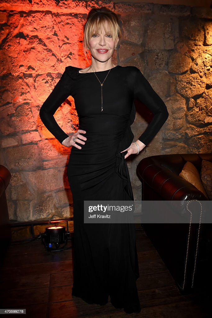 Singer/songwriter/actress Courtney Love attends HBO's 'Kurt Cobain: Montage Of Heck' Los Angeles Premiere After Party at the Sadie Kitchen and Lounge on April 21, 2015 in Hollywood, California.