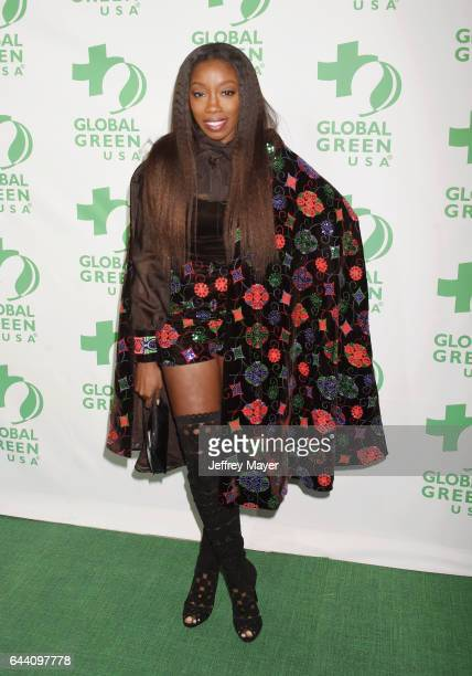 Singersongwriteractress Estelle arrives at the 14th Annual Global Green PreOscar Gala at TAO Hollywood on February 22 2017 in Los Angeles California