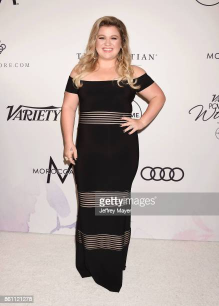 Singersongwriteractress Kelly Clarkson arrives at the Variety's Power Of Women Los Angeles at the Beverly Wilshire Four Seasons Hotel on October 13...