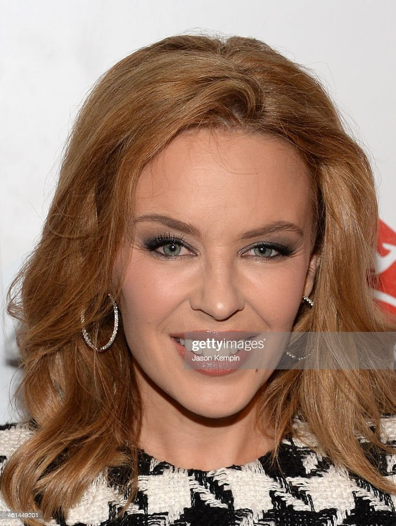 Singer/Songwriter/Actress Kylie Minogue attends the Qantas Spirit Of Australia Party on January 8, 2014 in Beverly Hills, California.