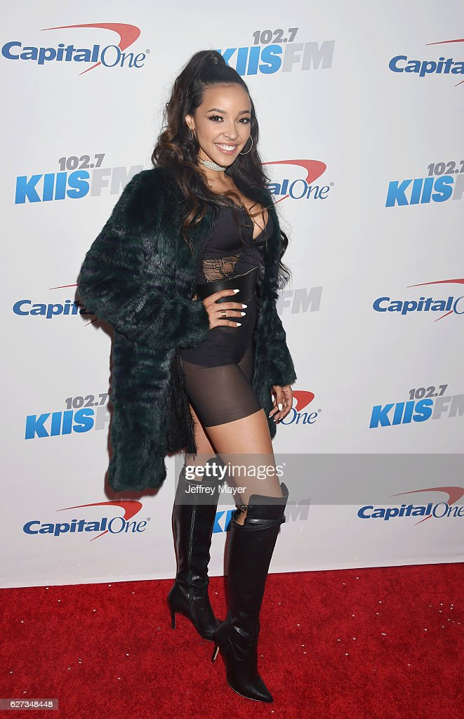 Singer/songwriter/actress Tinashe attends 102.7 KIIS FM's Jingle Ball 2016 at Staples Center on December 2, 2016 in Los Angeles, California.