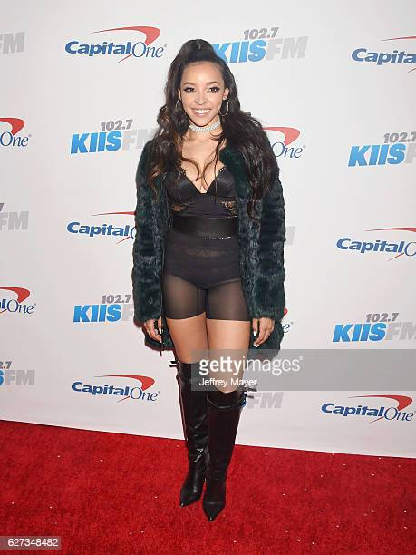 Singer/songwriter/actress Tinashe attends 1027 KIIS FM's Jingle Ball 2016 at Staples Center on December 2 2016 in Los Angeles California