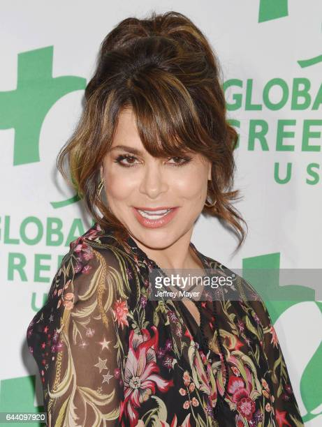 Singersongwriterdancer Paula Abdul arrives at the 14th Annual Global Green PreOscar Gala at TAO Hollywood on February 22 2017 in Los Angeles...