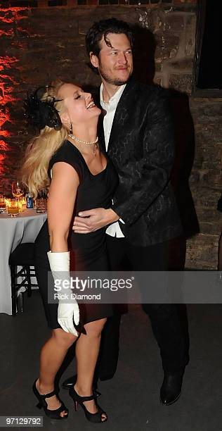 Singer/Songwriter/Honoree Miranda Lambert and Singer/Songwriter/Boyfriend Blake Shelton dance as BMI Honors Miranda Lambert's for her First with a...