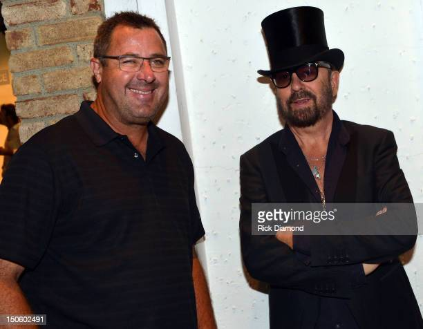 Singer/Songwriter/Humorist Vince Gill and Singer/Songwriter/host Dave Stewart attends the 'The Ringmaster General' premiere at the Belcourt Theater...