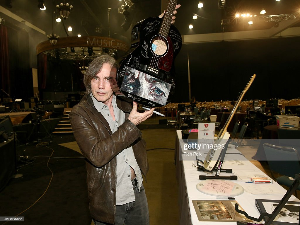 Singer/songwriterJackson Browne attends the Auction Signings at MusiCares Person of the Year during The 57th Annual GRAMMY Awards at the Los Angeles Convention Center on February 5, 2015 in Los Angeles, California.