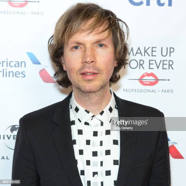 Singersongwritermusician Beck attends the Universal Music Group's 2017 GRAMMY After Party at The Theatre at Ace Hotel on February 12 2017 in Los...