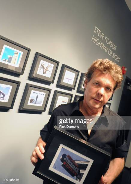 Singer/Songwriter/Photographer Steve Forbert poses at Steve Forbert in Song and Pictures at Tinney Gallery on October 12, 2011 in Nashville,...