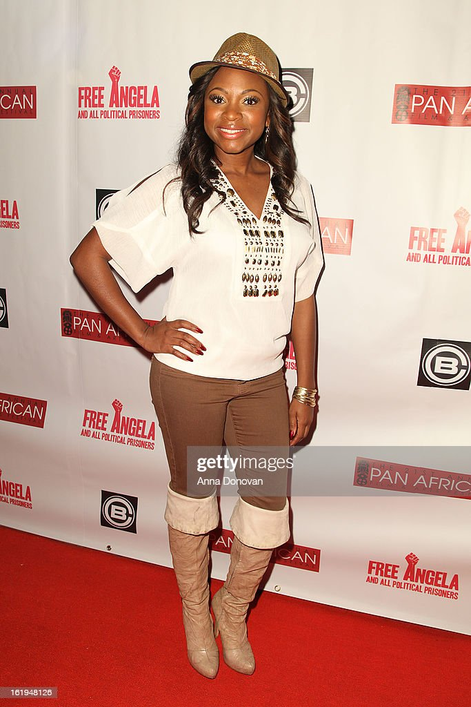 Singer/songwriter/rapper/actress Naturi Naughton attends the closing night at the Pan African film festival 'Free Angela And All Political Prisoners' at Rave Cinemas on February 17, 2013 in Los Angeles, California.