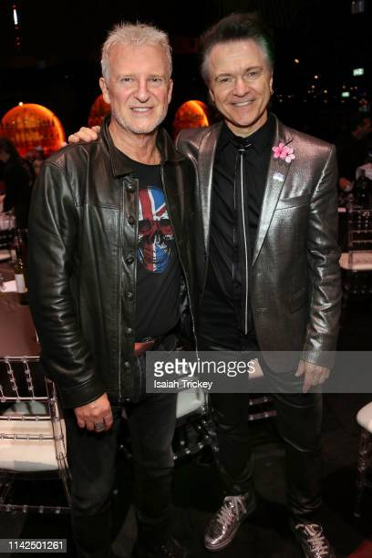 Singersongwriters Alan Frew and Lawrence Gowan attend the 2019 Canadian Music and Broadcast Industry Awards during Canadian Music Week 2019 at Rebel...
