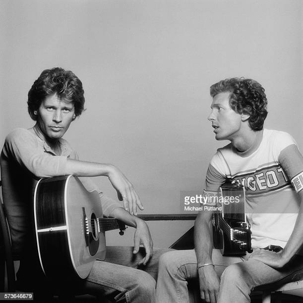 Singersongwriters and guitarists John Walker and Scott Walker of American pop group The Walker Brothers London 20th July 1976