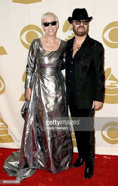 Singer/songwriters Annie Lennox and David A Stewart of the band Eurythmics attend The Night That Changed America A GRAMMY Salute To The Beatles at...