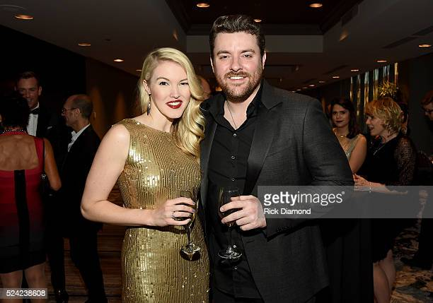 Singersongwriters Ashley Campbell and Chris Young attend the Nashville Best Cellars Dinner at the Loews Vanderbilt Hotel on April 25 2016 in...