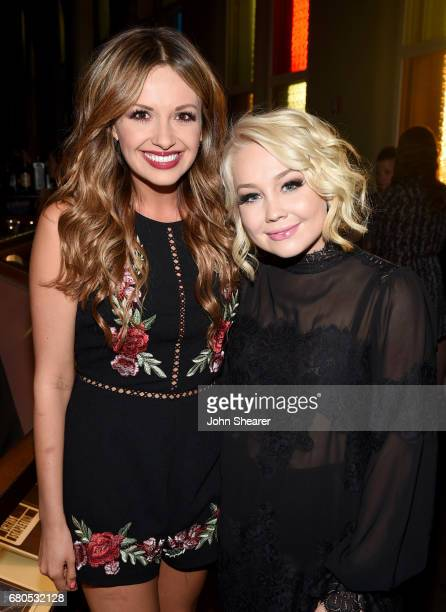 Singersongwriters Carly Pearce and RaeLynn attend the 2017 AIMP Nashville Awards on May 8 2017 in Nashville Tennessee