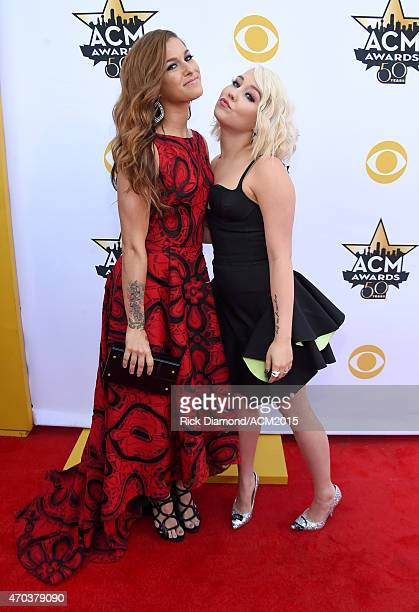 Singersongwriters Cassadee Pope and RaeLynn attend the 50th Academy of Country Music Awards at ATT Stadium on April 19 2015 in Arlington Texas