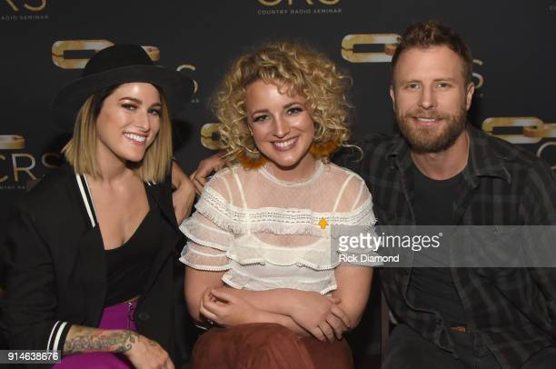 Singersongwriters Cassadee Pope Cam and Dierks Bentley attend CRS 2018 Day 1 on February 5 2018 in Nashville Tennessee
