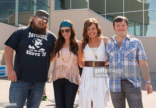 Singersongwriters Channing Wilson Rose Falcon Carly Pearce and Adam Hood attend the 2012 Country Throwdown Tour at Hoosier Park Racing Casino on June...