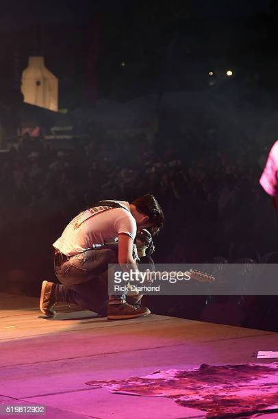 Singer/Songwriters Chase Bryant performs at County Thunder Music Festivals Arizona Day 1 on April 7 2016 in Florence Arizona