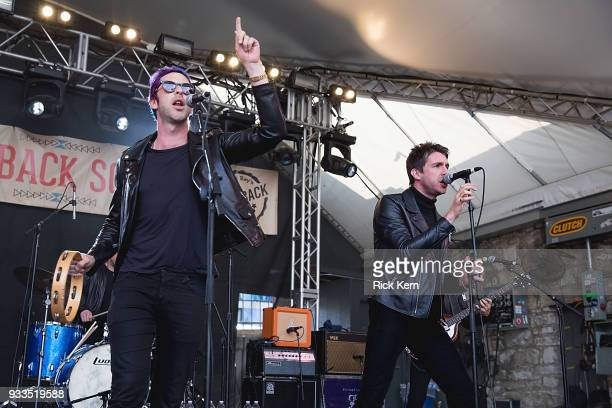 Singersongwriters Chris Cester and Matt Bellamy of Dr Pepper's Jaded Hearts Club Band perform onstage during Rachael Ray's Feedback at Stubb's BarBQ...